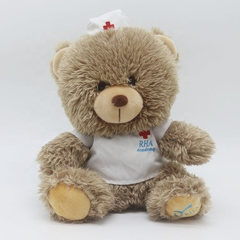 LOW MOQ Cheap Custom Profession Uniform Doctor Teddy Bear Wholesale Plush Toy Nurse Teddy Bear in Uniform
