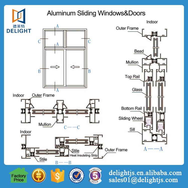 gliding windows floor plan aluminium vertical sliding door section grill design buy