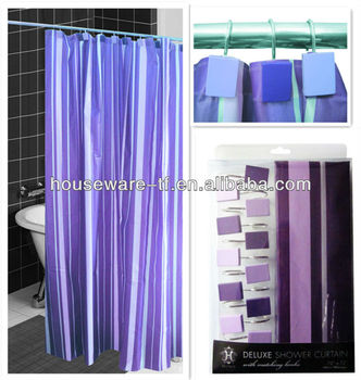 Home Goods Purple Striped 50PEVA New Design Shower Curtain