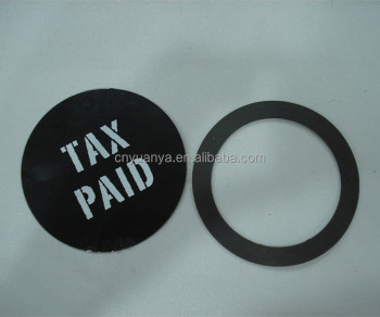 Customized Round Self-cling Tax Bag Car Tax Disc Holder