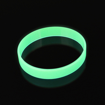 Glow In The Dark Rubber Hand Bands Silicone Bracelets Elastic Wristband