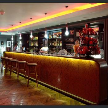 Home Bar Counter Styles Acrylic Lighted Bar Counter Top