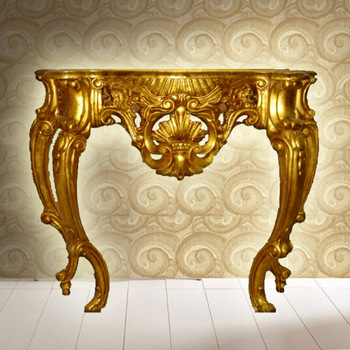 French Gold Ornate Wall Table Console Foyer Antique Vanity Tables