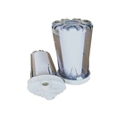 10 inch 4 point 6 copper tap water transparent front filter PP cotton single stage water purifier