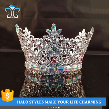 2017 shiny hair accessories rhinestone bridal crowns jewelry H172-303