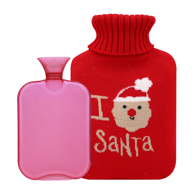 Promotional Gift PVC Hot Water Bottle and Cover Christmas Gift