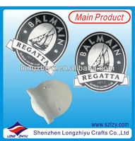 Etched and acid paint filled brushed stainless steel plates,high quality metal nameplate label badge