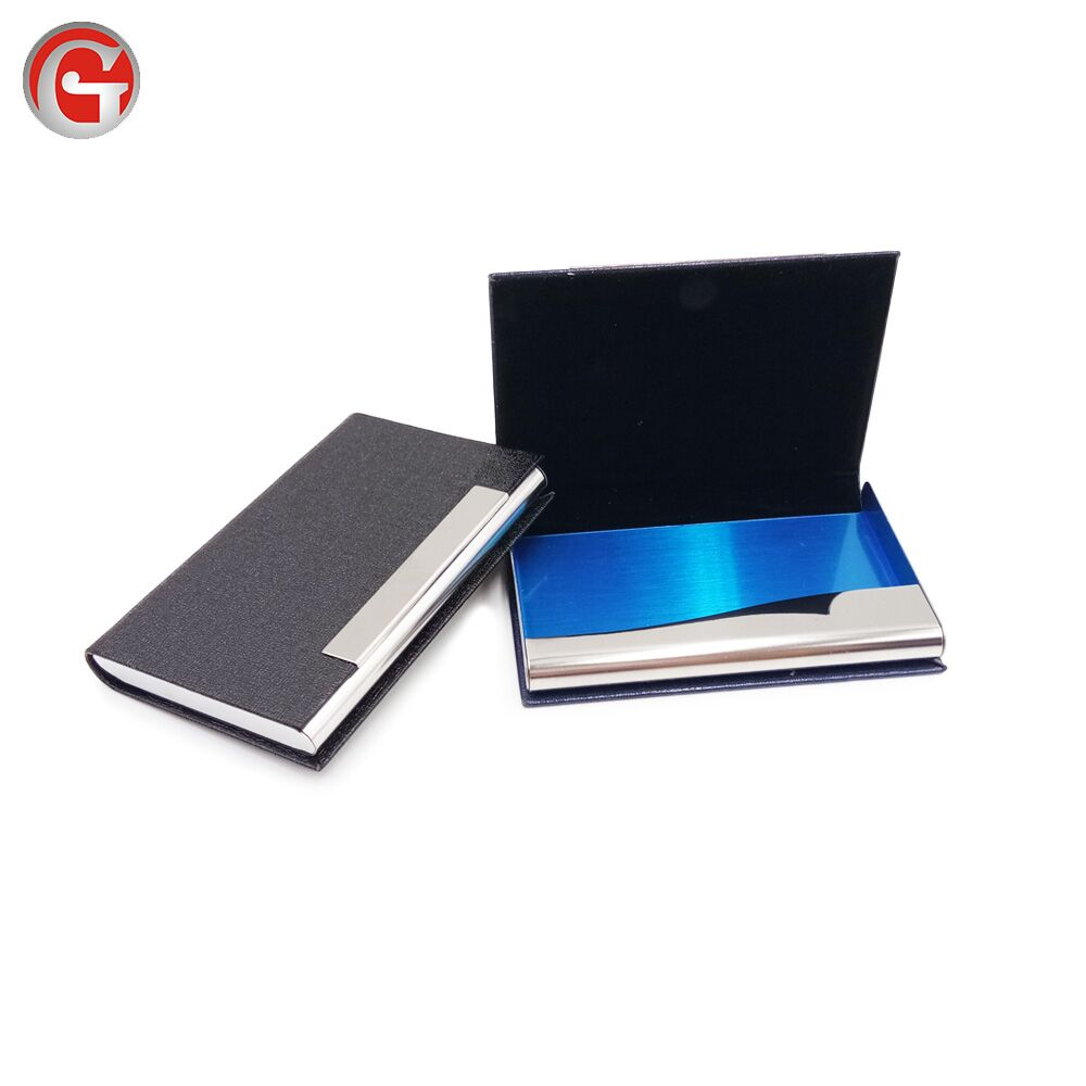 High quality matel material name business card holder aluminum credit card holder case