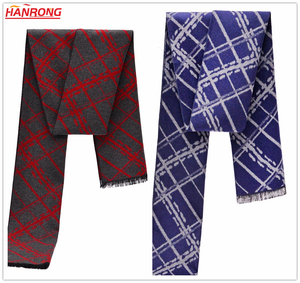 Men Winter New Fashion Wrap Knitting Tie Dye Warm Stitching Silk Scarf