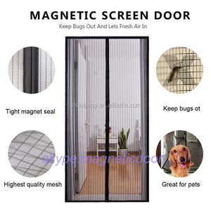 Hand-free Magnetic Mesh Screen Door Prevent Mosquito Curtain
