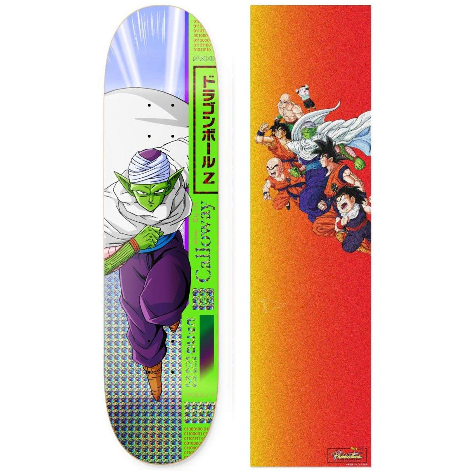 Primitive Dragon Ball Z Calloway Piccolo Skateboard Deck 8.0 w Gradient Griptape