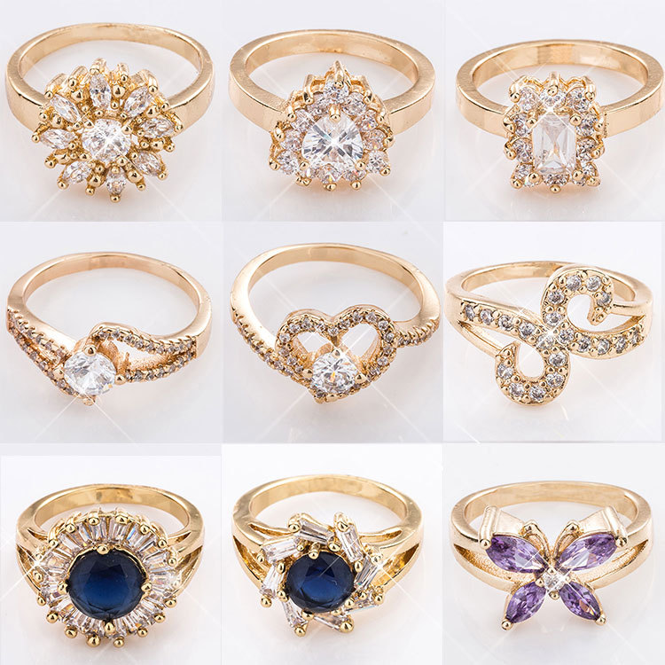 Popular Fashion Design Cheap Sample Engagement Turkish Wedding Rings