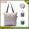 Foldable and collapsible women custom tote shopping bag for supermarket
