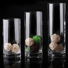 China Factory Supply Fashion Wholesale Cheap Tall Clear Cylinder Glass Vase