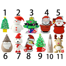 Christmas usb flash drive pen drive 2.0 4gb 8gb 16gb 32gb memory stick Santa Claus USB Merry Christmas Gift