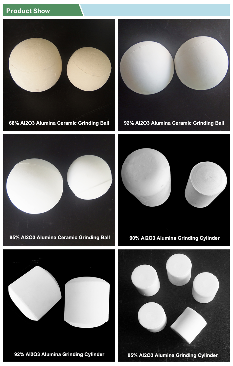 High alumina porcelain AL2O3 milling ceramic balls for grinding machine