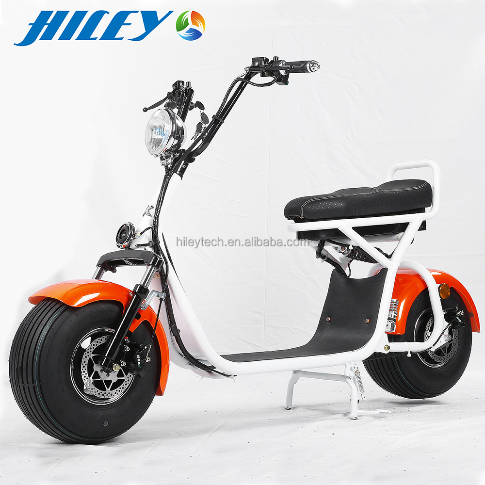 2017 New Product 1200W Motor 72V12ah Removable Battery Harley citycoco/seev/woqu electric mobility city scooter