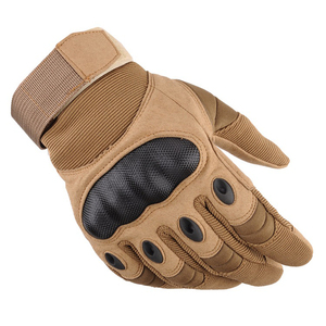 Outdoor Tactical Gloves Full Finger for Hiking Riding Cycling Military Men's Gloves Armor Protection Shell Gloves