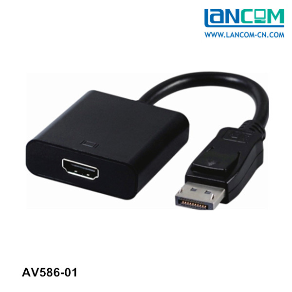 Wholesale Displayport cable adaptor male to HDMI Female 15CM Displayport 1.3 cable