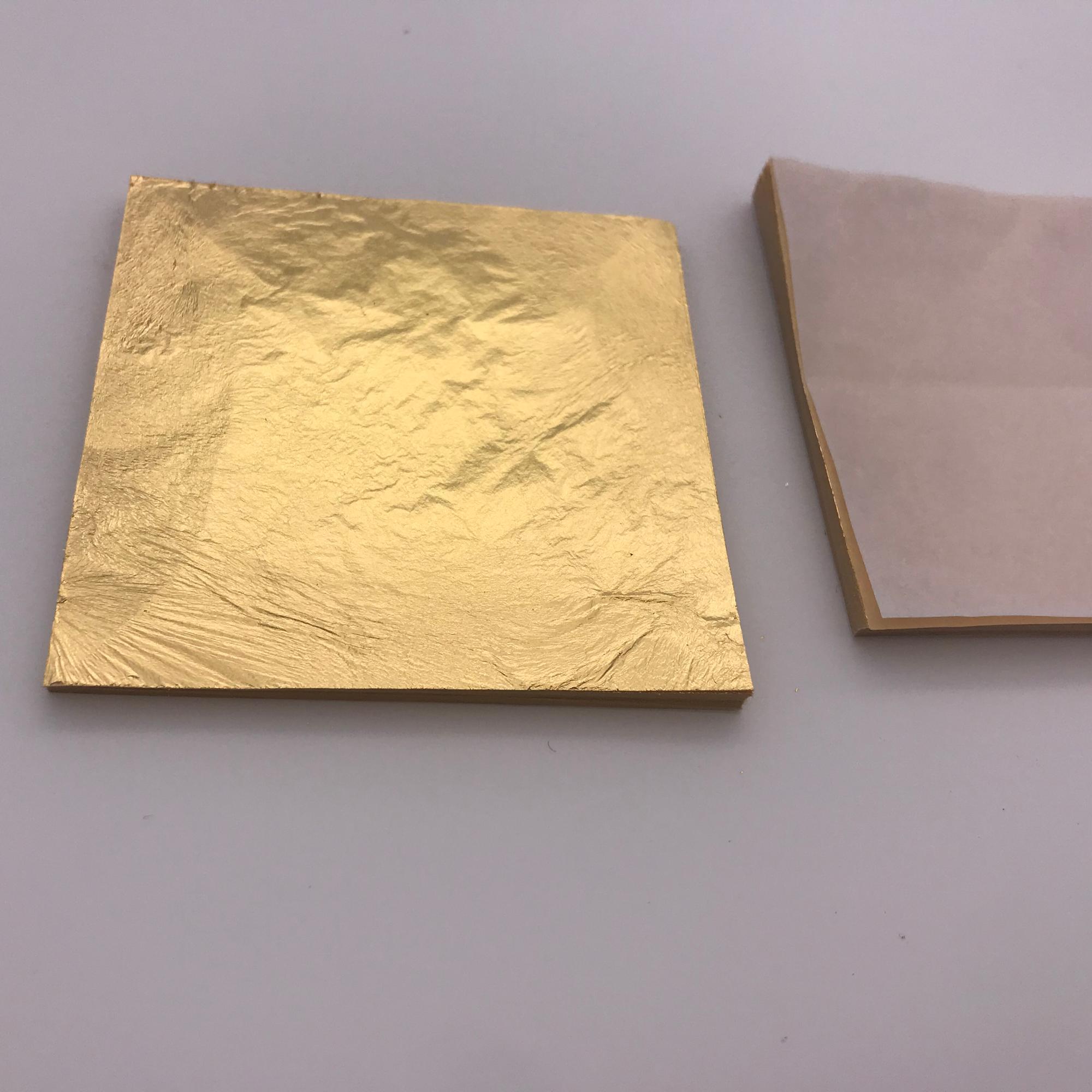 Sheet metal to the gild like Gold leaf 500 Sheets Imitation gold Colour2,0