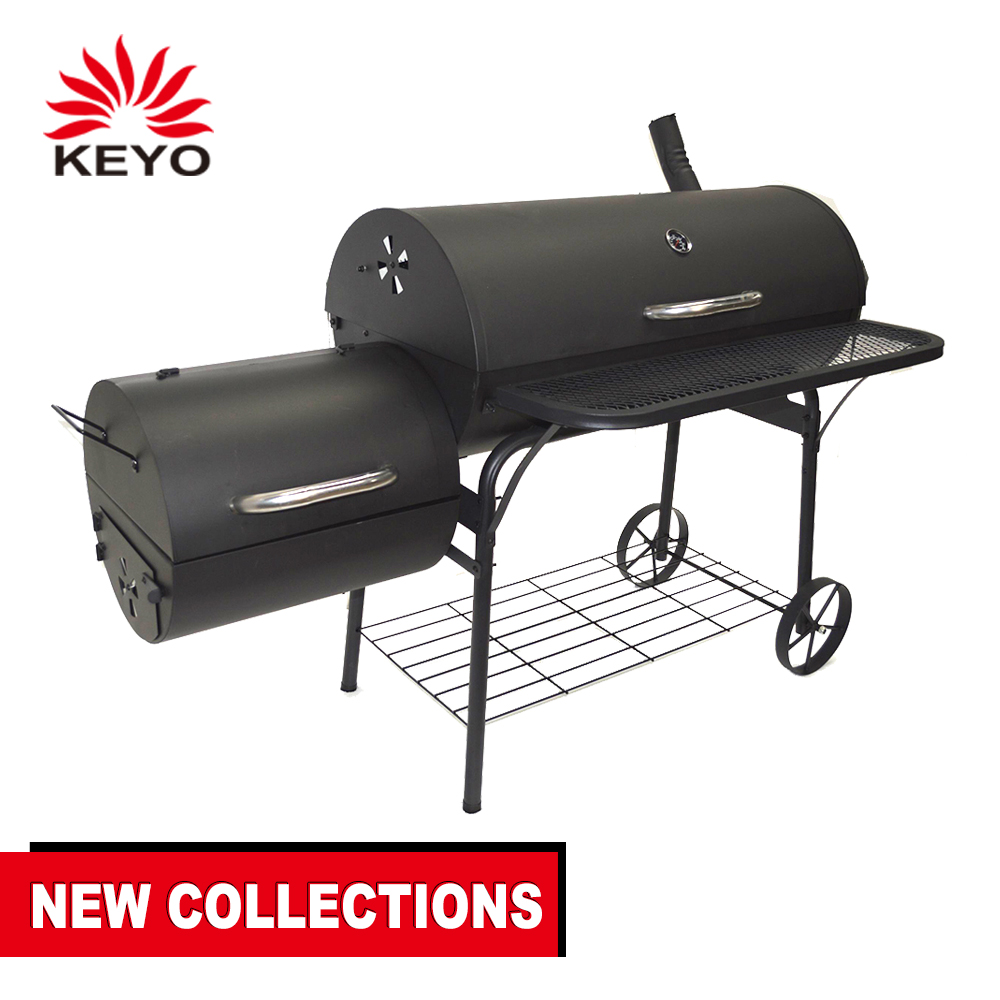 Wholesale Germany Outdoor Offset Portable <strong>Fish</strong> Food Charcoal BBQ Smoker <strong>Grill</strong> <strong>Machine</strong> Heavy Duty Pit BBQ <strong>Grill</strong> &amp; Smoker For Sale
