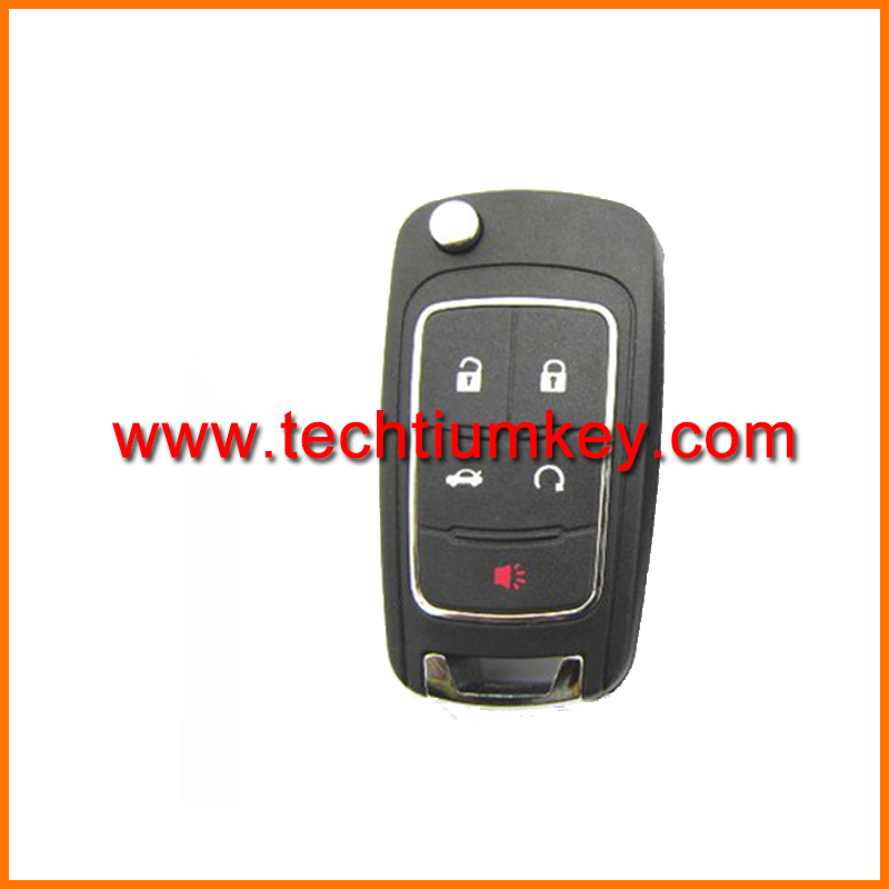 ABS 5 button Remote key fob with logo and blade key blanks wholesale for Buick Regal