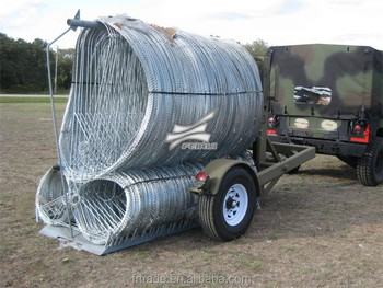 Mobile Razor Wire Security Barrier for road construction