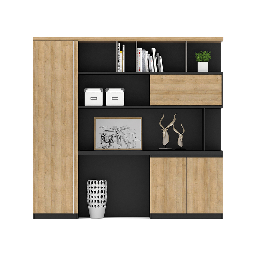 2019 modern wall cabinet wooden office furniture book shelf