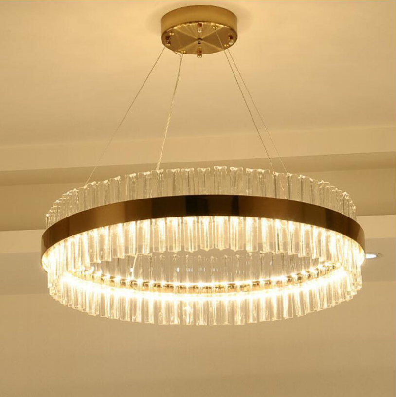 Customized Hotel Restaurant lobby ceiling decoration light Stainless steel Rectangle Superior K9 Chandelier Crystal