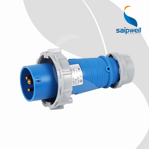 SAIP Wall Mounted Industrial Plug With Cover Heavy Duty Industrial Electrical Plug