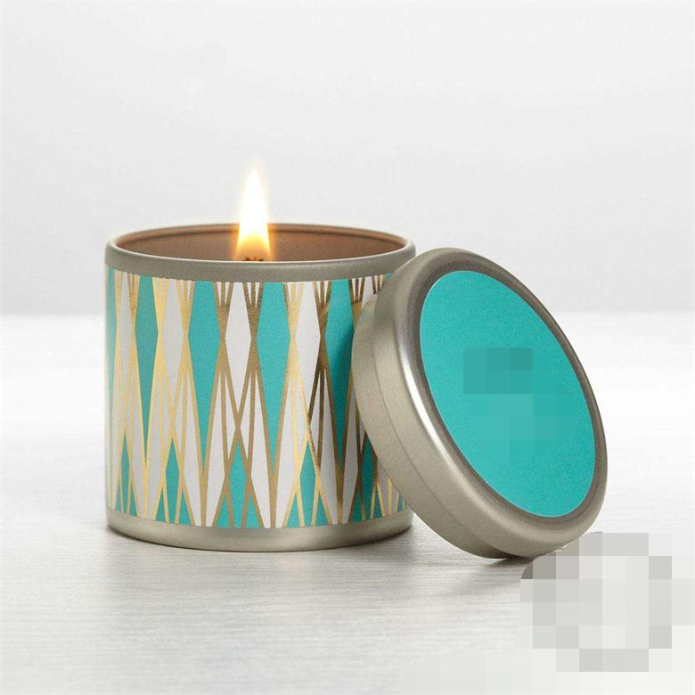 gift set customized logo paraffin/soy wax scented tin box candle