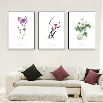Hiasan Dinding Framed Indah Bunga Lukisan Gambar