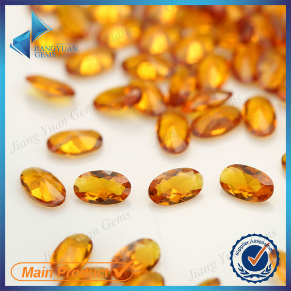 Oval synthetic yellow topaz gemstone price