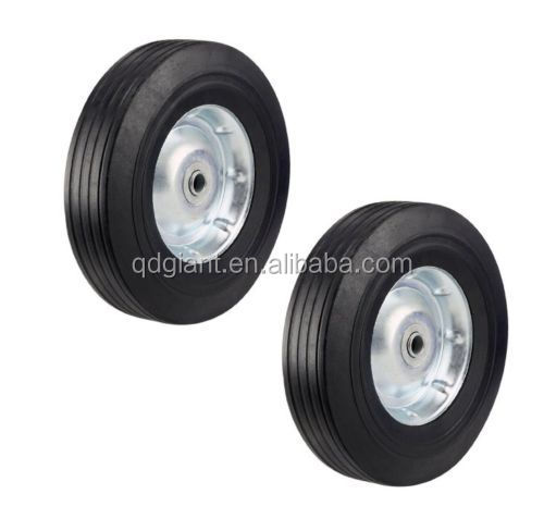 Heavy Duty Never-Flat 10-Inch Solid Hard Rubber Hand Truck Wheels
