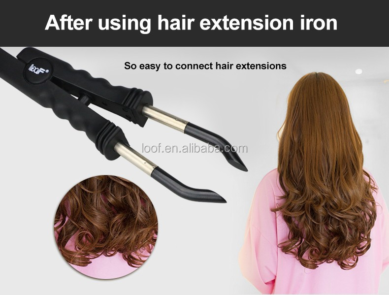 Loof brand hair extension iron for short long hair
