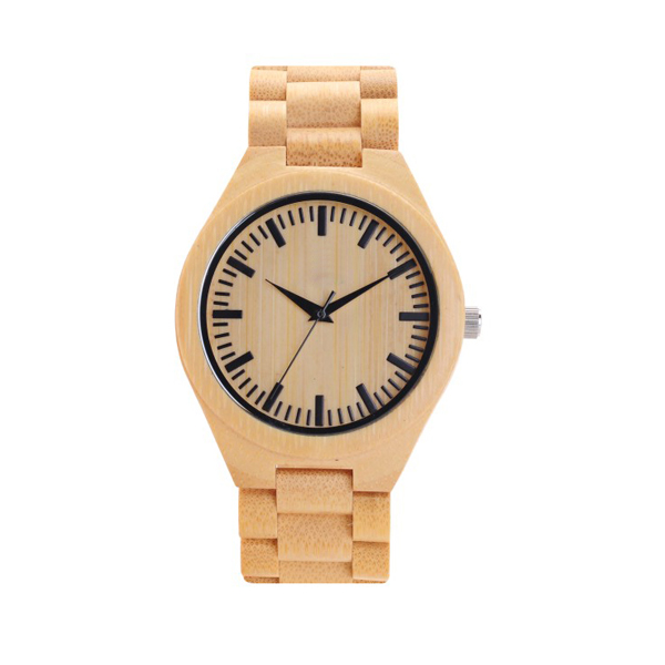 China factory bamboo wood wrist watch classic quartz watch quartz wood watch