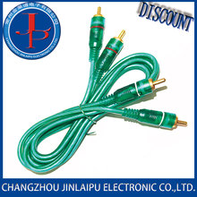 7712 2 rca to 2 in 1 pair av cable twisted shielded from China