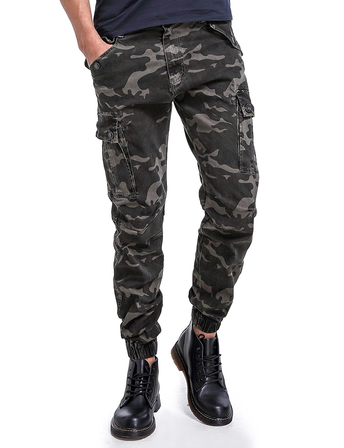 2a335cee Get Quotations · Eaglide Mens Slim Fit Chino Jogger Pants, Mens Athletic  Boys Casual Cargo Khaki Pants