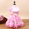 Elegant Pure Color Dog Wedding Dress Floral Lace Dog Clothes Dress for Wedding Party