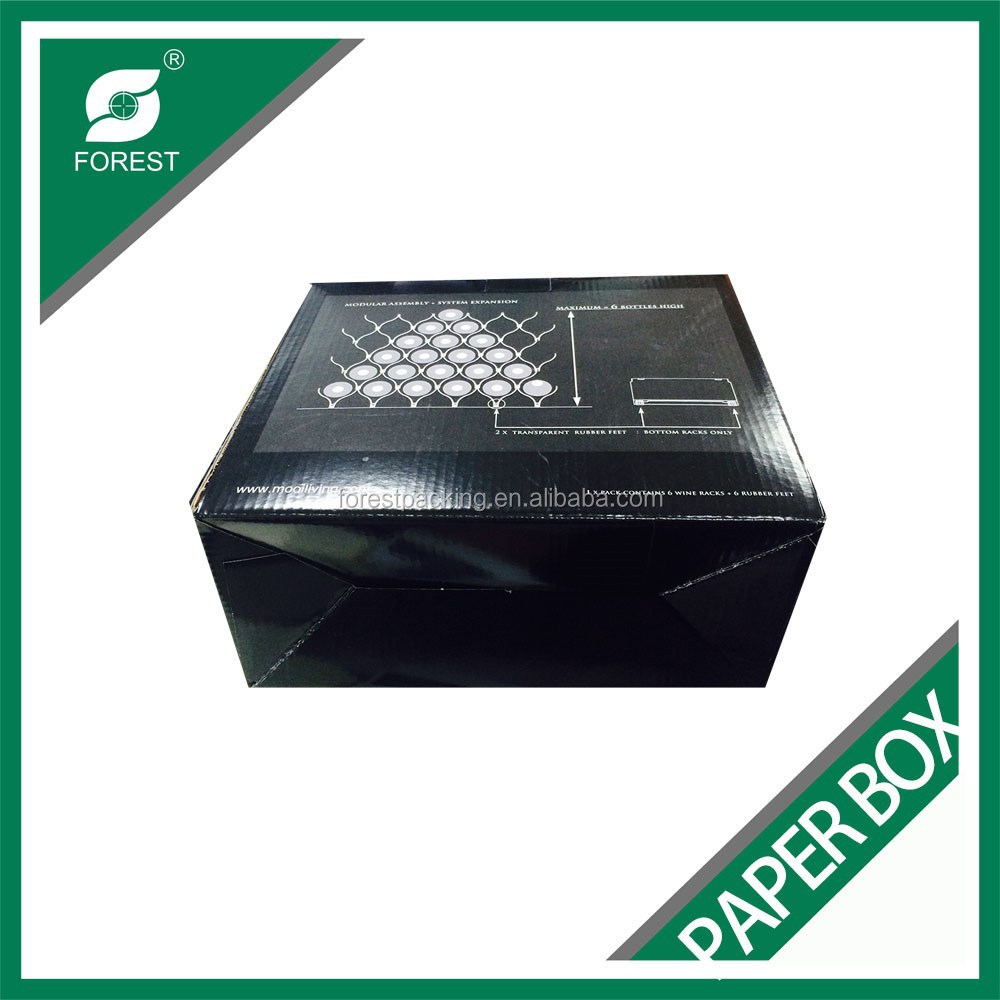 LOGO PRINTING CORRUGATED PAPER SMALL GLASS BOX PACKAGING