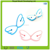 Angel wings eco-fiendly material silicone rubber reusable cable tie