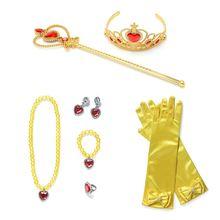 PaMaBa дети из комиксов Con, снаряжение для косплея, аксессуары для девочек, парик Русалочки для Хэллоуина, платье принцессы, товары для вечерино...(Китай)