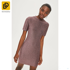 Modern T shirt Dress Women Glitter Mini Bodycon Dress