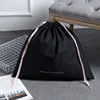 Black cotton Custom wholesale dust bag for handbag