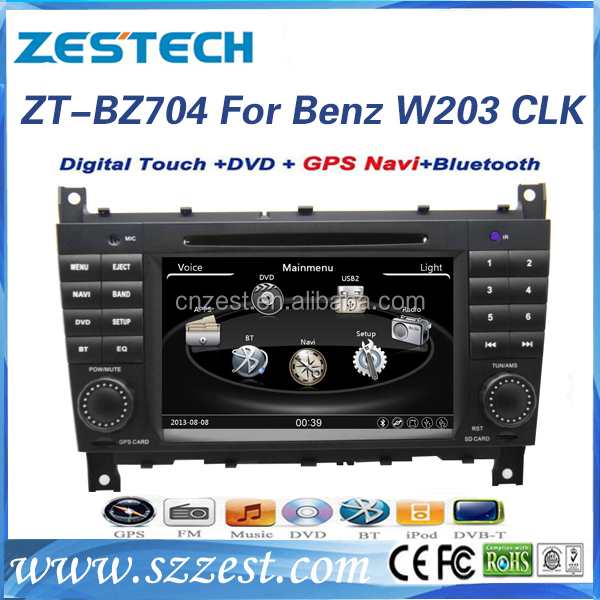 ZESTECH OEM direct sale 2 din car radio for mercedes benz clk w230 car gps nvaigation system car dvd with 3G Wifi MP3 BT