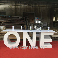 Party/events supplies table letters with glass top for wedding decoration wedding love letter table