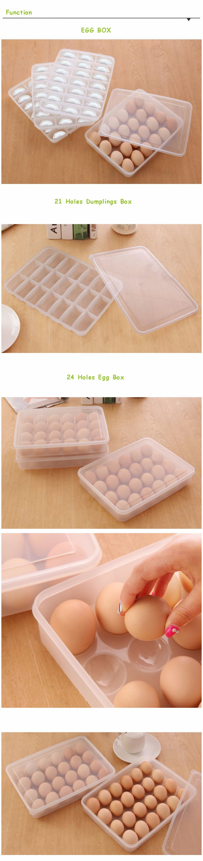 Disposable Plastic Egg Container, Food Storage Container set