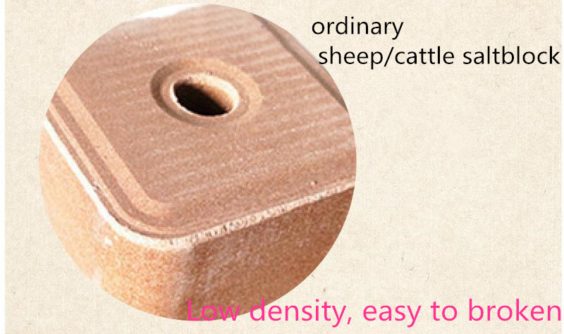 china factory supplier animal salt licking blocks cattle