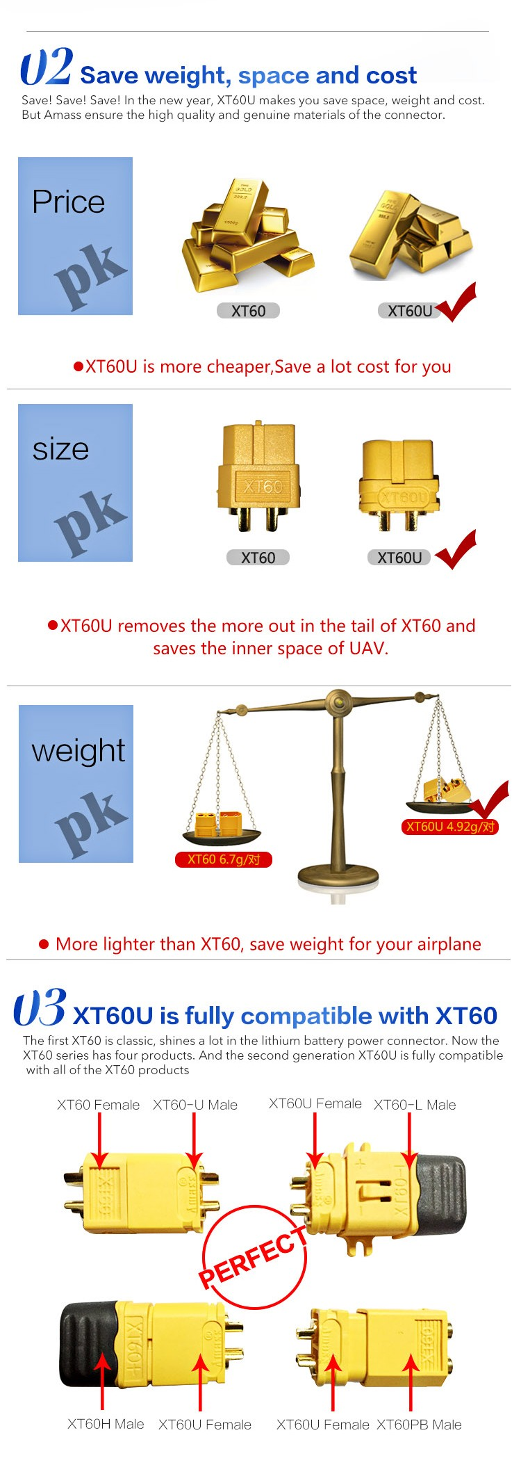 Ul Certification Plug For Uav Standard Plug Xt60u For Drone View