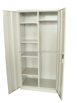 Simple Design 2 Door Steel Wardrobe Cabinet Clothes Closet In Bedroom